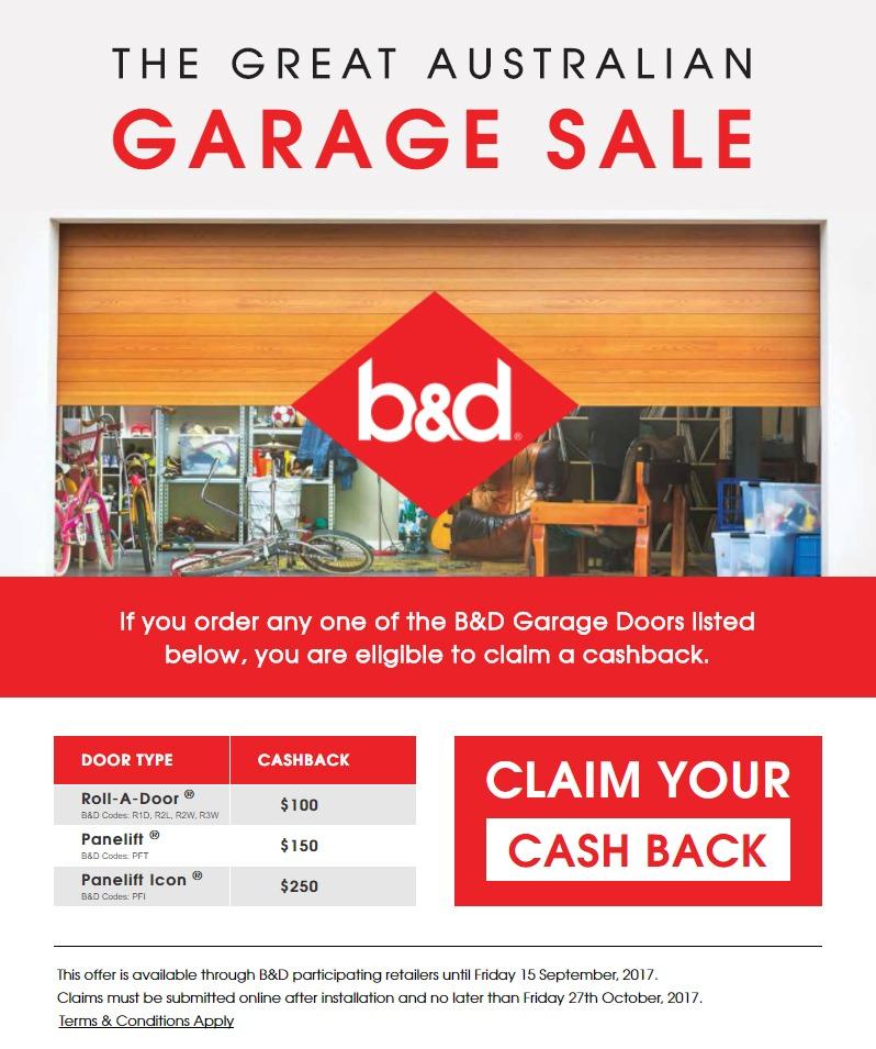 B&D - The Great Australian Garage Sale Cash Back Promotion 2017