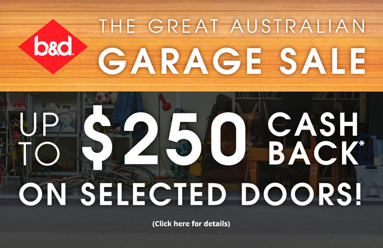 B&D - The Great Australian Garage Sale Cash Back Promotion 2017