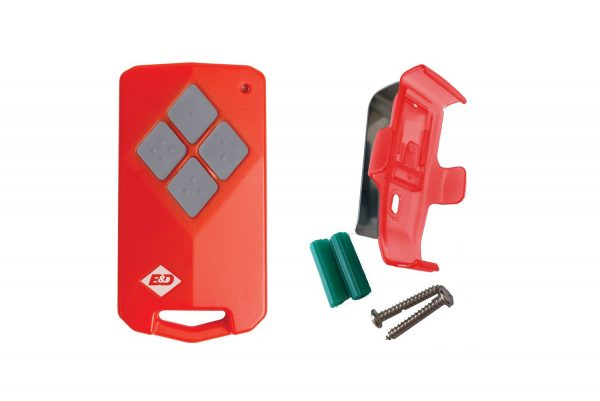 Combo B&D TB 5v2 Remote Transmitter and Visor Clip
